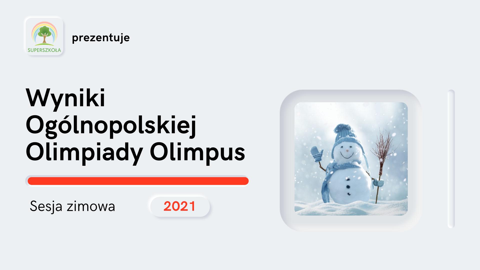 olimpiada zimowa 2021 wyniki