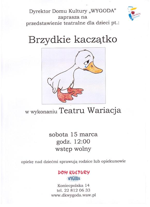 Zaproszenie Na Przedstawienie Pt Brzydkie Kaczątko Super Szkoła