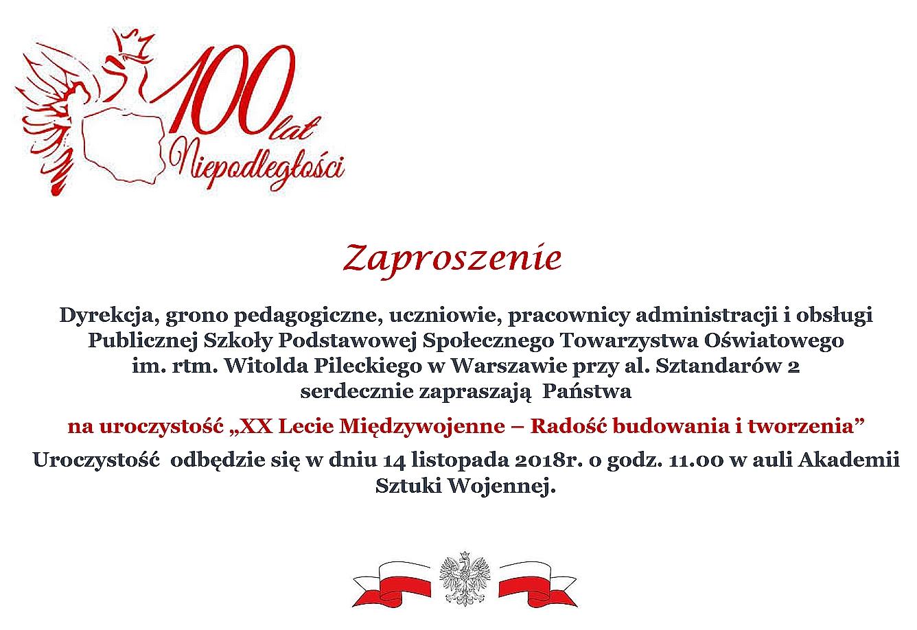 zaproszenie_XX_lecie_miedzywojenne