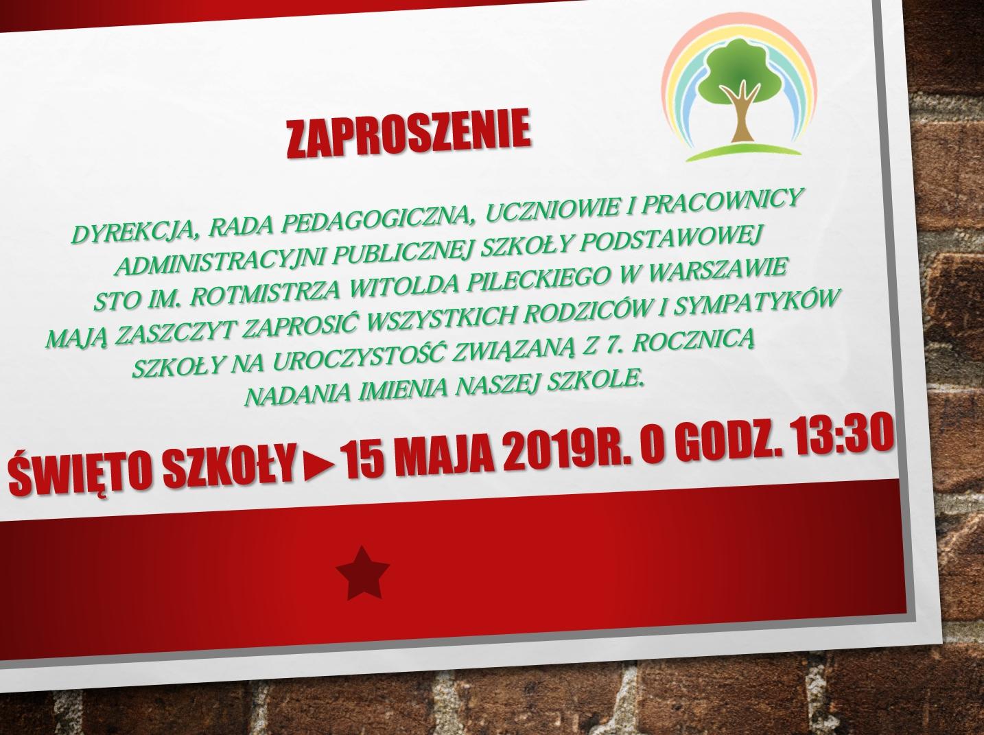 zaproszenie_Swieto_Szkoly_20199